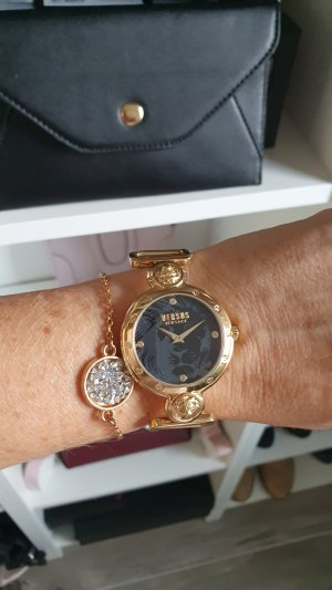 VERSUS Versace Watch With Metal Strap black-gold-colored