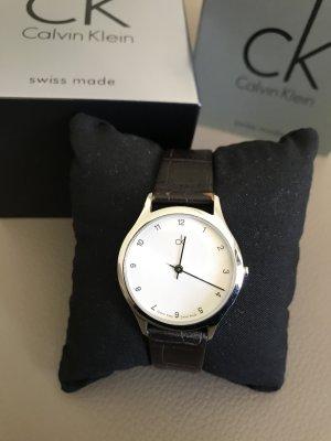Uhr von ck Calvin Klein mit Lederarmband