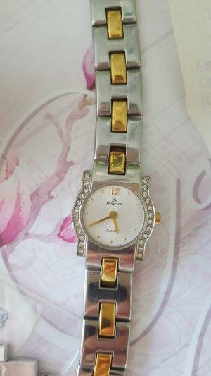 Dugena Reloj con pulsera metálica color plata-color oro