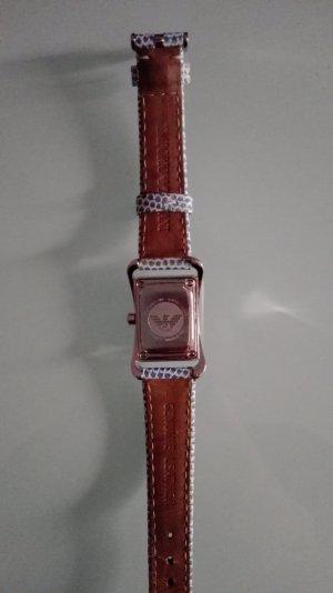Emporio Armani Reloj digital azul neón Cuero
