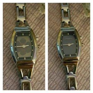 Fossil Horloge met metalen riempje zilver-donkerpaars