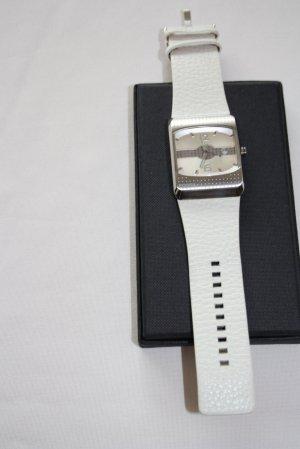 Uhr, von Fossil, in Weiss