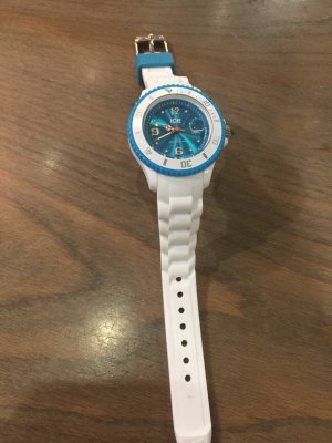 Ice watch Montre analogue blanc-bleu fluo