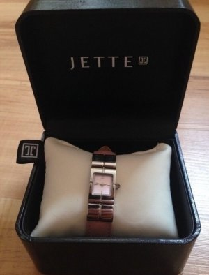 Jette Joop Watch With Leather Strap pink-silver-colored