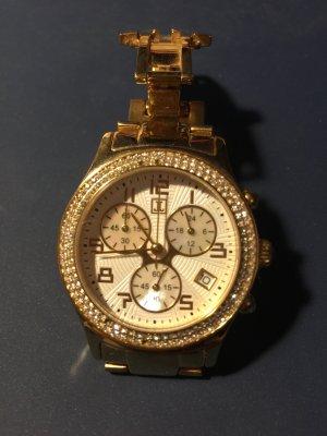 Jette Joop Montre avec bracelet métallique doré métal