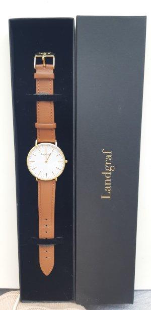 Uhr von Landgraf in Gold und Cognac