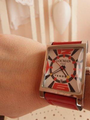 Reloj automático rojo
