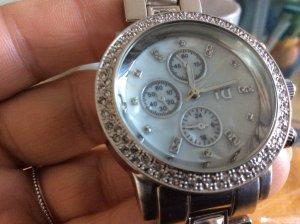 Uhr von River Island in Silber schön groß