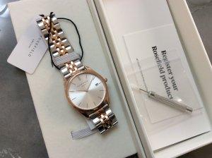 ROSEFIELD Watch With Metal Strap light grey-dusky pink metal