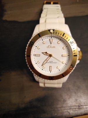 s.Oliver Horloge met metalen riempje wit-goud