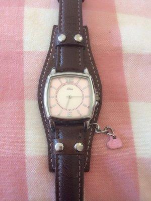 Uhr von S . Oliver Rosé / Braun