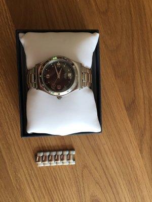 Swatch Horloge met metalen riempje zilver