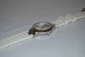 Uhr Weiß Silber No Name