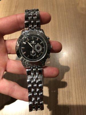 Orologio con cinturino di metallo argento-nero