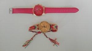Analoog horloge roze