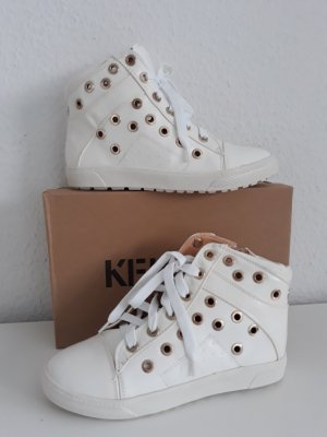 High Top Sneaker white-gold-colored