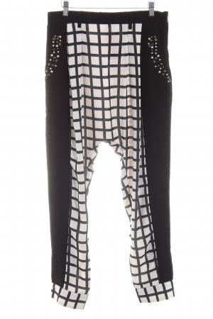 Uldahl Harem Pants black-white check pattern party style