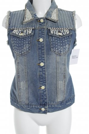 Uldahl Denim Vest cornflower blue street-fashion look