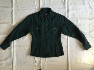 Uli Knecht Blouse Jacket dark green cotton