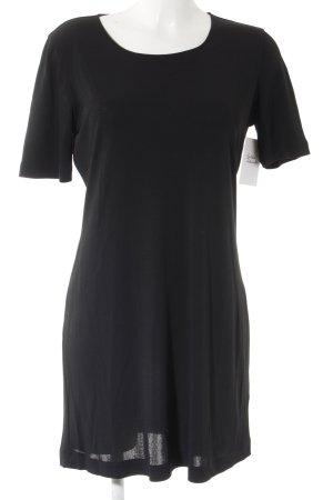 Uli Knecht Kurzarmkleid schwarz schlichter Stil