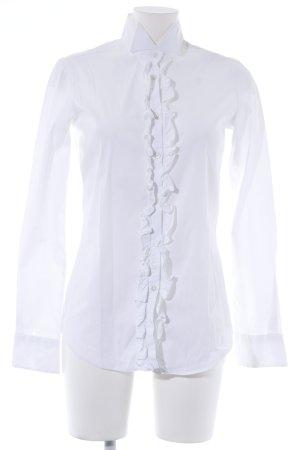 Uli Knecht Rüschen-Bluse weiß klassischer Stil