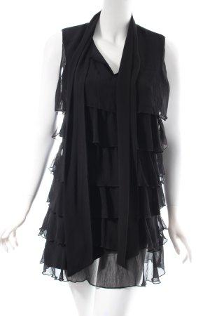 Uli Knecht Volante jurk zwart