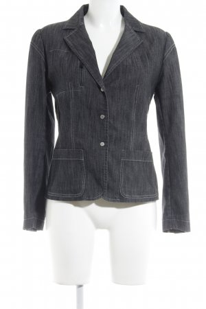 Uli Schneider Denim Blazer anthracite casual look