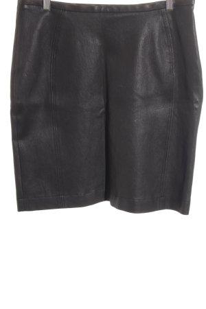 Uli Schneider Falda de cuero marrón oscuro estilo sencillo