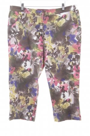 Ulla Popken 3/4 Length Trousers floral pattern casual look