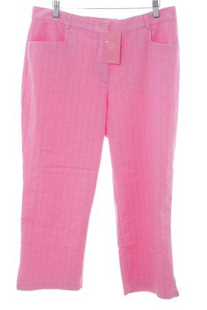 Ulla Popken 3/4-Hose pink Streifenmuster extravaganter Stil