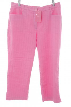 Ulla Popken Pantalón pirata rosa estampado a rayas estilo extravagante