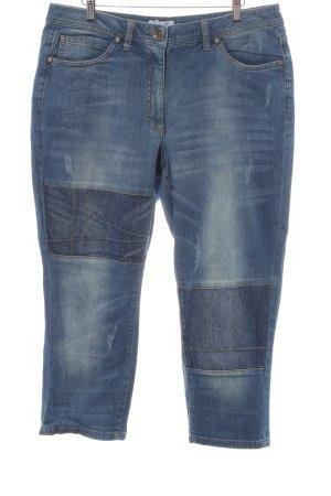 Ulla Popken Jeans a 7/8 blu fiordaliso stile casual