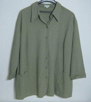ULLA POPKEN Bluse Blazer Größe 50/52 Khaki