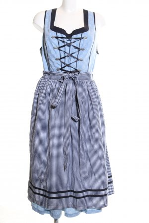 Ulla Popken Dirndl blau-weiß Allover-Druck Business-Look
