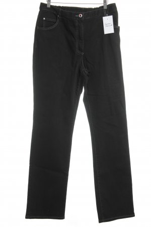 Ulla Popken Five-Pocket-Hose schwarz Casual-Look