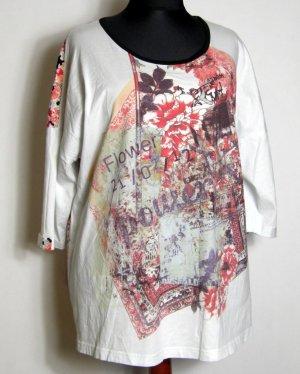ULLA POPKEN Flower Power Shirt Tunika 48/50 Baumwolle