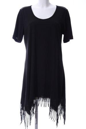 Ulla Popken Fringed Dress black elegant