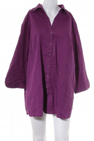 Ulla Popken Hemd-Bluse violett Business-Look