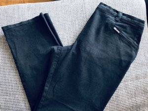 Ulla Popken Drainpipe Trousers black cotton
