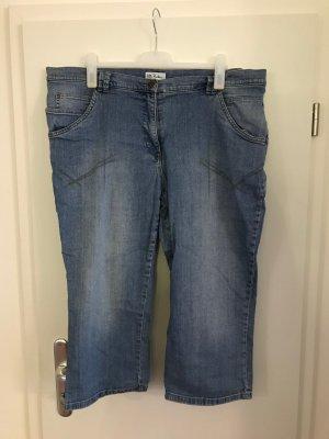 Ulla Popken Jeans Gr.50 Stiefelhose Ankle-Jeans blau