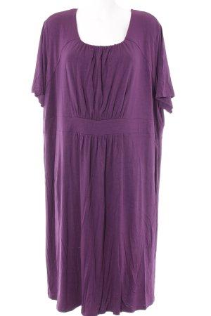 Ulla Popken Jerseykleid lila schlichter Stil