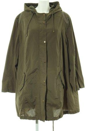 Ulla Popken Hooded Coat khaki casual look