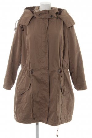 Ulla Popken Hooded Coat camel-dark brown casual look