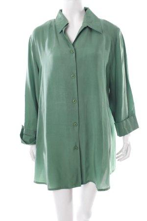 Ulla Popken Kimono-Bluse grün Casual-Look