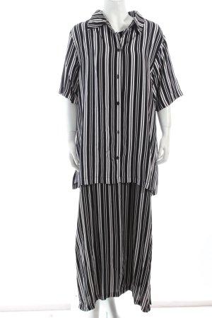 Ulla Popken Kleid weiß-dunkelblau Streifenmuster