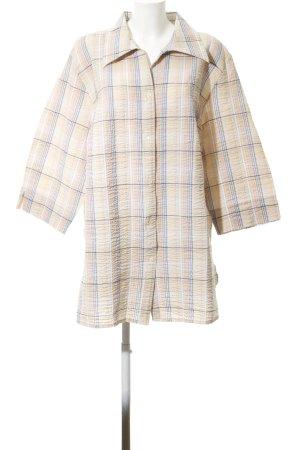 Ulla Popken Short Sleeve Shirt cream-white check pattern casual look