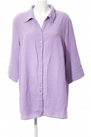 Ulla Popken Short Sleeve Shirt purple casual look