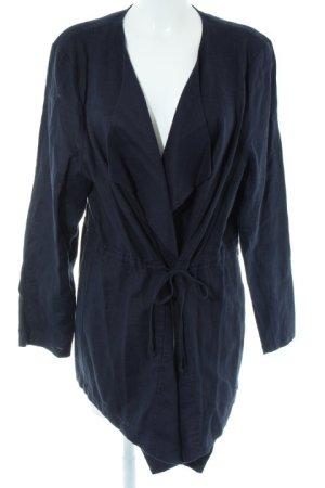Ulla Popken Lange Jacke dunkelblau schlichter Stil