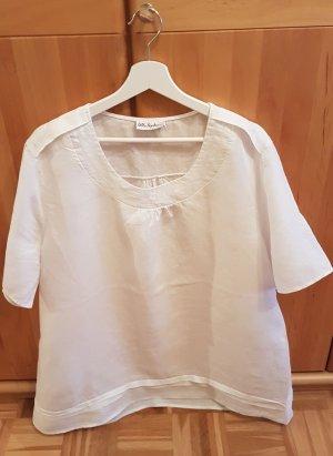 Ulla Popken Blusa de lino blanco