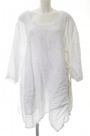 Ulla Popken Linen Blouse white casual look